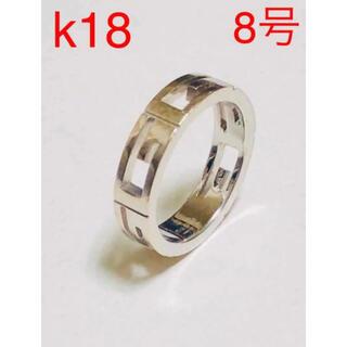 Gucci - GUCCI グッチ 正規品 k18 WG アイコン リング 指輪 18金 18k