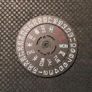 セイコー(SEIKO)のセイコー nh36 3時用 黒 日車 曜車 デイデイト サムライ(腕時計(アナログ))