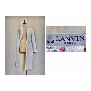 LANVIN - 70s LANVIN Vintage Linen Coat リネン ランバン