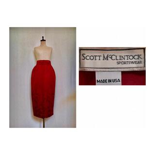 グリモワール(Grimoire)の80s SCOTT McCLINTOCK Brocad Maxi Skirt(ロングスカート)