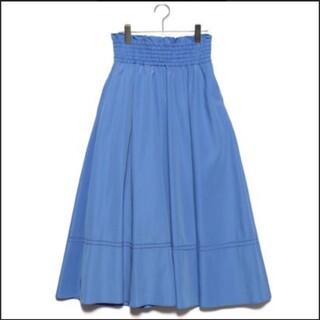 ミラオーウェン(Mila Owen)の美品 Mila Owen ゴムシャーリングハシゴ刺繍スカート(ロングスカート)