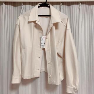 UNIQLO - ジャージーリラックスジャケット ユニクロ ホワイト Lサイズ