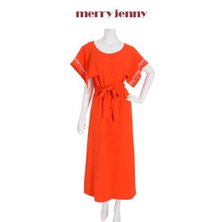 merry jenny - merry jenny おはな刺繍ロングワンピース