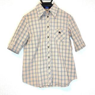 バーバリーブルーレーベル(BURBERRY BLUE LABEL)のバーバリーブルーレーベル サイズ40 M -(シャツ/ブラウス(半袖/袖なし))