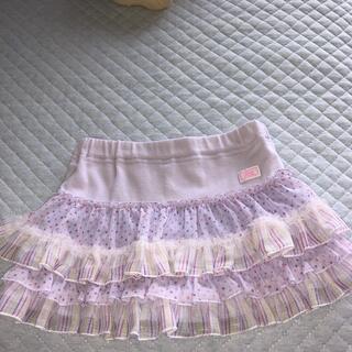 mezzo piano - メゾピアノ インナー付きスカート100美品
