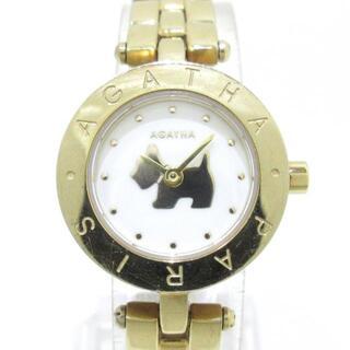アガタ(AGATHA)のアガタ美品  - レディース アイボリー(腕時計)