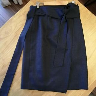 ジャスグリッティー(JUSGLITTY)のJUSGLITTY サッシュベルト付2WAYタイトスカート ※サンプル品(ひざ丈スカート)