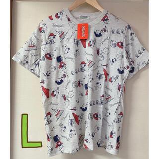 ピーナッツ(PEANUTS)の新品 スヌーピー ウッドストック チャーリーブラウン Tシャツ   Lサイズ(Tシャツ/カットソー(半袖/袖なし))