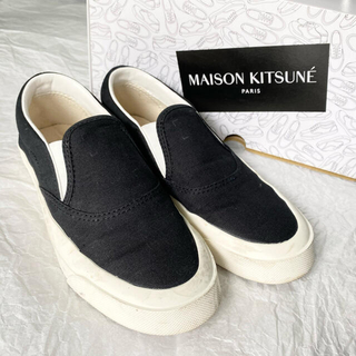 MAISON KITSUNE' - 【美品・36サイズ】17600円!メゾンキツネ/スリッポンスニーカー/ブラック