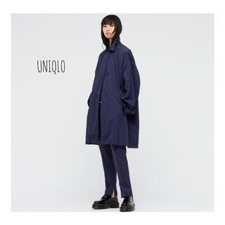 ユニクロ(UNIQLO)のUNIQLO+J オーバーサイズライトコート ブラック S 新品(スプリングコート)