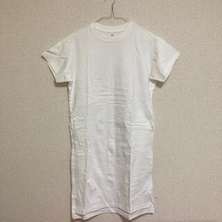 UNIQLO - 超美品/UNIQLO/Tシャツワンピース/白/150160