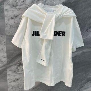 ジルサンダー(Jil Sander)のJIL SANDER  白い半袖Tシャツ  S(Tシャツ(半袖/袖なし))