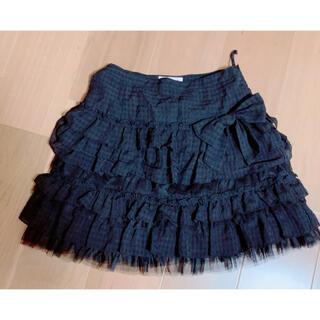 エミリーテンプルキュート(Emily Temple cute)のエミリーテンプルキュート 3段フリルスカート リボン(ひざ丈スカート)