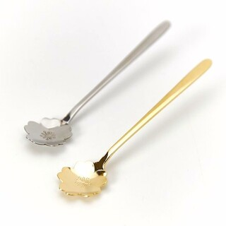 【日本製】桜ティースプーン ゴールド&シルバーのセット さくら(食器)