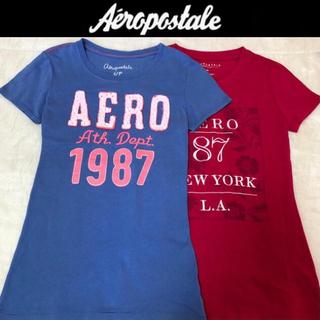 エアロポステール(AEROPOSTALE)の美品☆エアロポステール半袖TシャツS2枚セット2着 ホリスターアバクロ(Tシャツ(半袖/袖なし))