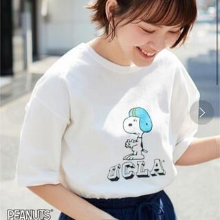 スヌーピー(SNOOPY)のUCLA スヌーピーTシャツ 新品💜(Tシャツ(半袖/袖なし))