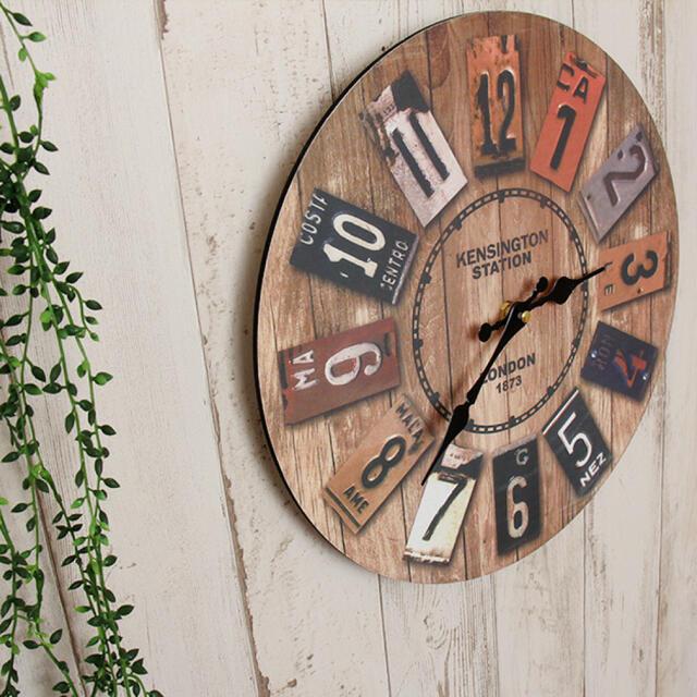 時計 置き時計 ウッド 木 インテリア 西海岸風 雑貨 アメリカン ビンテージ インテリア/住まい/日用品のインテリア小物(掛時計/柱時計)の商品写真