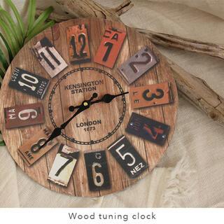 時計 置き時計 ウッド 木 インテリア 西海岸風 雑貨 アメリカン ビンテージ