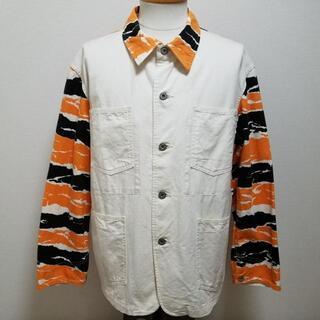 TENDERLOIN タイガーカモ柄 切替 薄手 カバーオール ジャケット ジャ