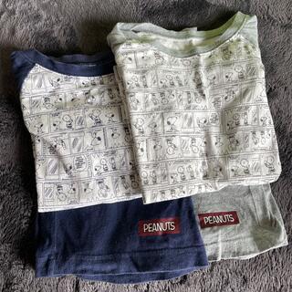ジーユー(GU)のスヌーピー   半袖パジャマ 2枚セット 130(パジャマ)