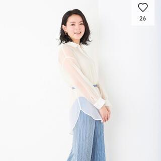 GU - シアーロングシャツ(長袖)