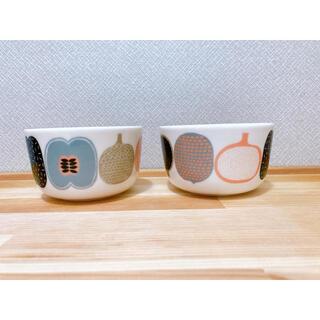 marimekko - マリメッコ コンポッティ ボウル グレー系2個セット