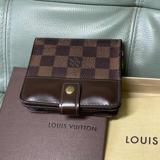LOUIS VUITTON - 【美品】ルイヴィトン  コンパクトジップ 二つ折り財布