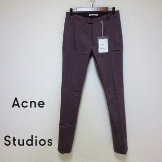 アクネ(ACNE)の新品ACNE STUDIOS テーパードストレッチパンツ MAX SATIN 紫(スラックス)