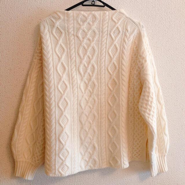 IENA(イエナ)のIENA ホワイトニット レディースのトップス(ニット/セーター)の商品写真