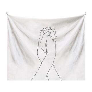 韓国風 インテリア 布ポスター 壁掛け タペストリー 線画 お洒落