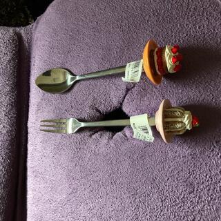 ケーキモチーフ スプーン&フォークセット(スプーン/フォーク)
