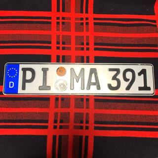 アウディ(AUDI)の391 本物 ドイツ ユーロナンバープレート BMW ベンツ アウディ ポルシェ(車外アクセサリ)