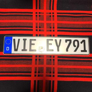 フォルクスワーゲン(Volkswagen)の791本物 ドイツ ユーロナンバープレート BMW ベンツ アウディ ポルシェ(車外アクセサリ)