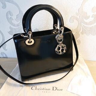 Christian Dior - Christian Dior レディディオール ガラスレザー黒