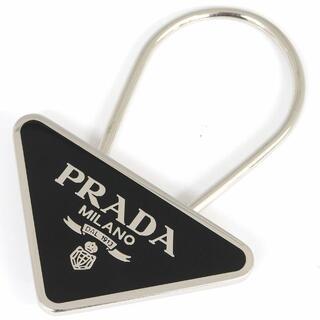 プラダ(PRADA)の プラダ キーリング ブラック M285 中古 三角ロゴ(その他)