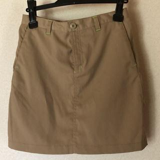 【中古Columbia】トレッキングスカート・ベージュMサイズ(ウエア)