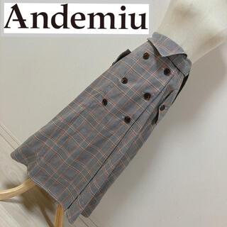 アンデミュウ(Andemiu)のアンデミュウ チェック柄トレンチスカート(ロングスカート)