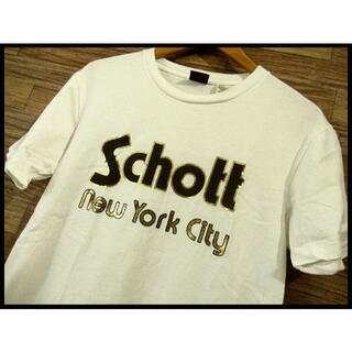ショット(schott)のSchott ショット USA製生地 日本製 ロゴ プリント Tシャツ M 白(Tシャツ/カットソー(半袖/袖なし))