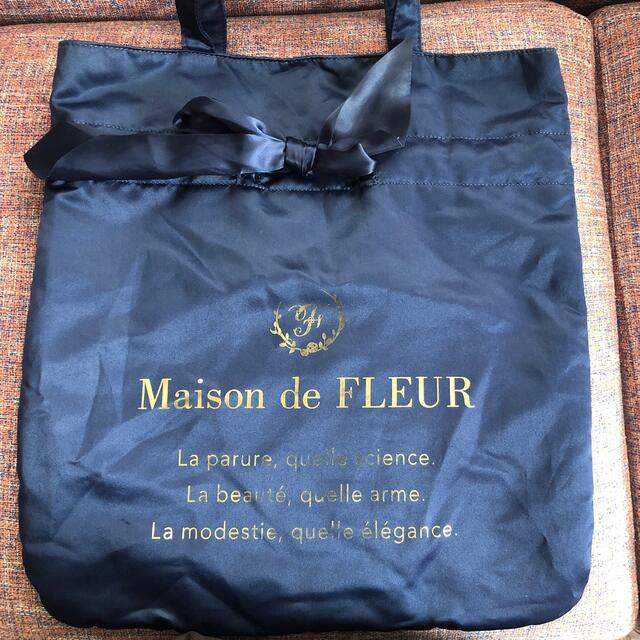 Maison de FLEUR(メゾンドフルール)のメゾンドフルール サブバッグ ネイビー レディースのバッグ(トートバッグ)の商品写真
