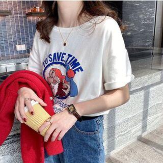 小人プリント Tシャツ