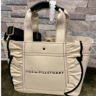 ジルバイジルスチュアート(JILL by JILLSTUART)のJILL by JILLSTUART フリルトートバッグ(大)White(トートバッグ)