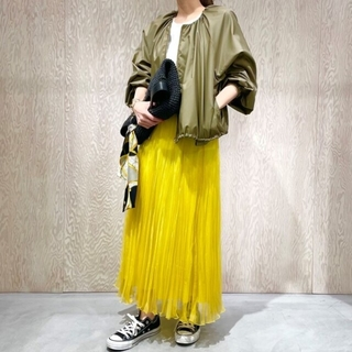 TOMORROWLAND - 定価2.2万今季★UNTITLED ソフトオーガンジー スカート