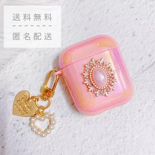 ♡新品・未使用♡jewelry airpods case 1/2世代【ピンク】(ヘッドフォン/イヤフォン)