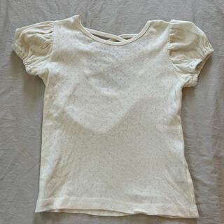 ボンポワン(Bonpoint)の未着用♡バックリボンパフスリーブカットソー(Tシャツ/カットソー)