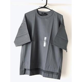 ユニクロ(UNIQLO)の【新品】ユニクロ +J スーピマコットンオーバーサイズT(五分袖) 08Gray(Tシャツ(半袖/袖なし))