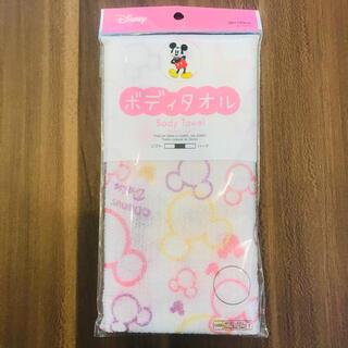 ディズニー(Disney)の【新品未開封品】ミッキー ボディタオル♡(タオル/バス用品)