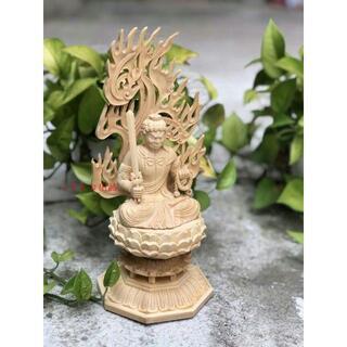特上彫 仏教工芸品 木彫仏像 不動明王坐像(彫刻/オブジェ)