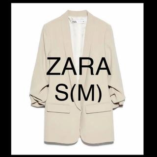 値下 ZARA ザラ ジャケット 袖まくり抜け感 春夏 S/M ベージュ H&M
