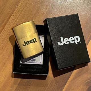 ジッポー(ZIPPO)の【新品・未使用】JEEP ジープ ZIPPO ジッポ ライター 箱付き(タバコグッズ)