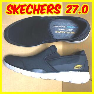 スケッチャーズ(SKECHERS)のSKECHERS スケッチャーズ メンズ スリッポン シューズ 27.0(スリッポン/モカシン)